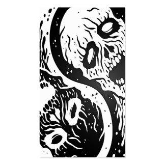 Zombis blancos y negros de Yin Yang Plantillas De Tarjeta De Negocio