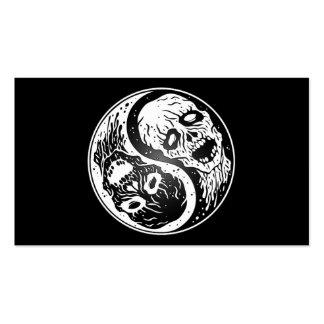 Zombis blancos y negros de Yin Yang Tarjeta De Visita