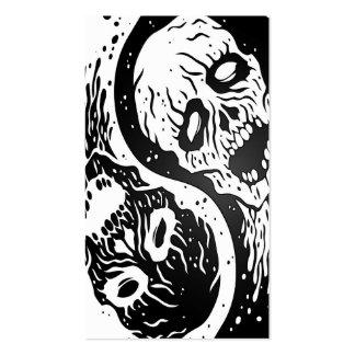 Zombis blancos y negros de Yin Yang Tarjetas Personales