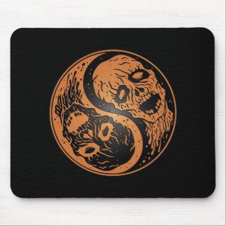 Zombis Brown de Yin Yang y negro Tapete De Ratones