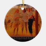 """""""ZOMBIS de la celebración para la paz """" Ornaments Para Arbol De Navidad"""