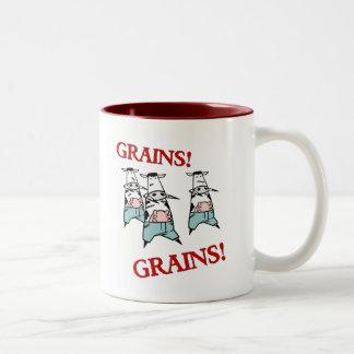 Zombis de la vaca taza de café de dos colores