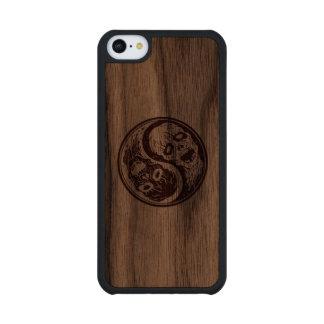 Zombis de madera de Yin Yang Funda De iPhone 5C Slim Nogal