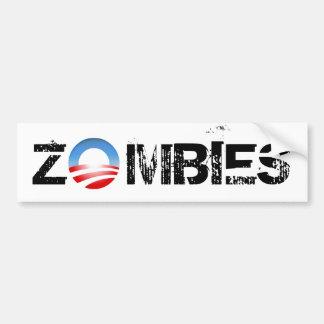 Zombis de Obama Pegatina Para Auto