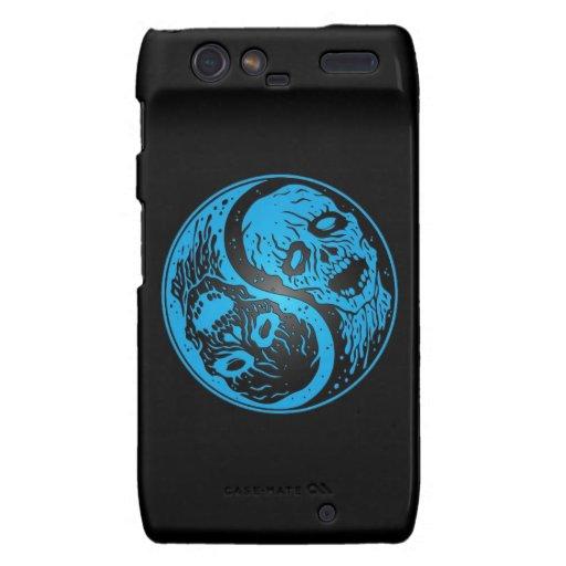 Zombis de Yin Yang azules y negros Droid RAZR Carcasa