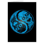 Zombis de Yin Yang azules y negros Tarjeta