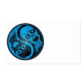 Zombis de Yin Yang azules y negros Plantillas De Tarjeta De Negocio
