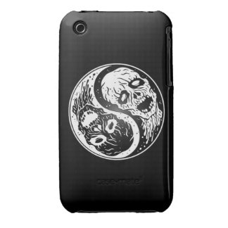 Zombis de Yin Yang blancos y negros Case-Mate iPhone 3 Coberturas
