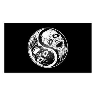 Zombis de Yin Yang blancos y negros Tarjetas Personales