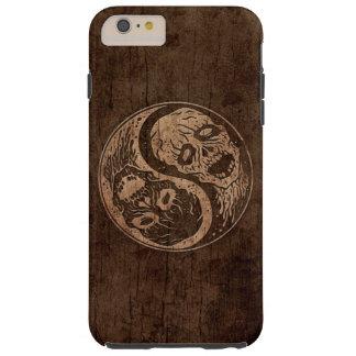 Zombis de Yin Yang con el efecto de madera del Funda De iPhone 6 Plus Tough