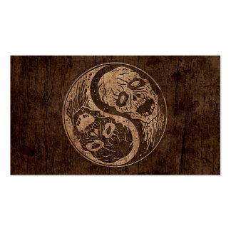 Zombis de Yin Yang con el efecto de madera del gra Tarjetas De Visita