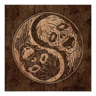 Zombis de Yin Yang con el efecto de madera del Comunicado Personalizado