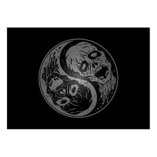 Zombis de Yin Yang grises y negros Tarjetas De Visita