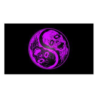 Zombis de Yin Yang púrpuras y negros Tarjetas De Negocios
