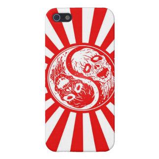 Zombis de Yin Yang rojos y blancos iPhone 5 Coberturas