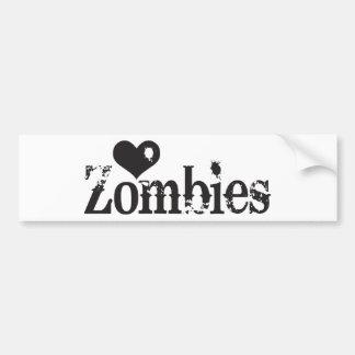 Zombis del amor (corazón) pegatina para auto