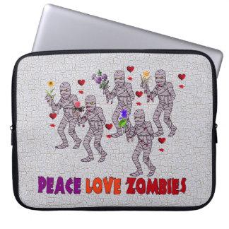 Zombis del amor de la paz fundas computadoras