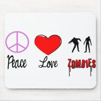 zombis del amor de la paz tapete de raton