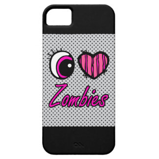 Zombis del amor del corazón I del ojo de Emo iPhone 5 Fundas