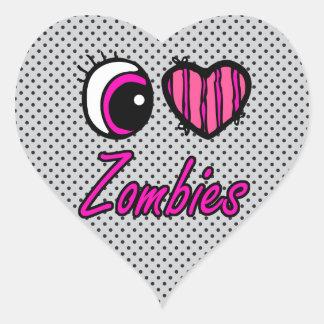 Zombis del amor del corazón I del ojo de Emo Colcomanias De Corazon