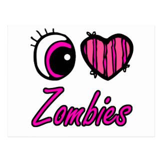 Zombis del amor del corazón I del ojo de Emo Postales