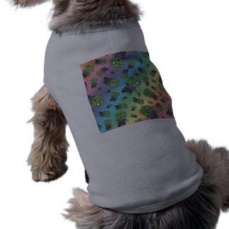 Zombis del arco iris camisetas de perrito
