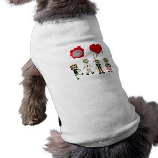 Zombis del corazón del ojo ropa de perros