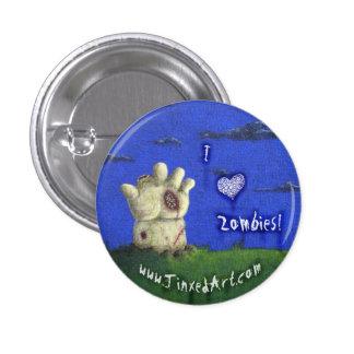 ¡Zombis del ♥ I! botón Pin Redondo De 1 Pulgada
