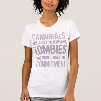 Zombis del imitador de los caníbales camisetas
