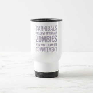 Zombis del imitador de los caníbales taza térmica