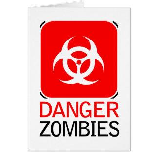Zombis del peligro felicitaciones