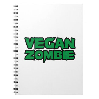 Zombis del vegano spiral notebooks