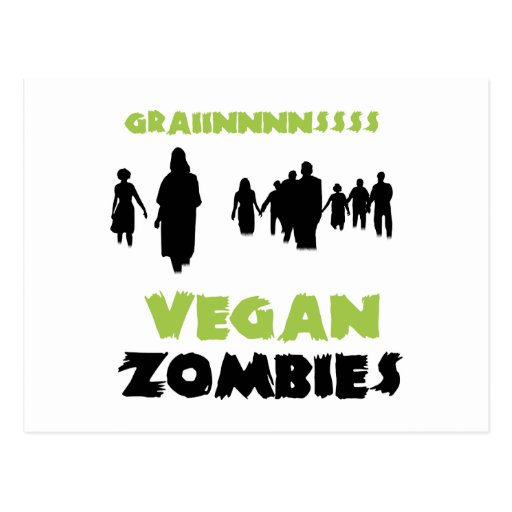 Zombis del vegano tarjeta postal