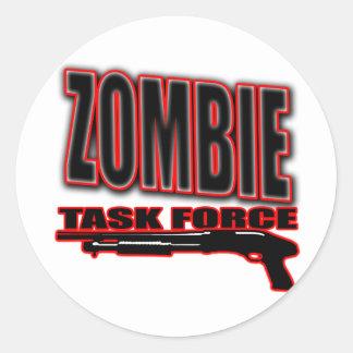 zombis divertidos de los undead de la camisa del pegatina redonda
