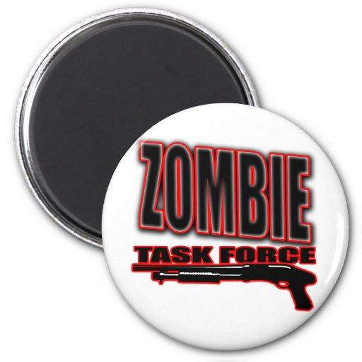 zombis divertidos de los undead de la camisa del z imán redondo 5 cm
