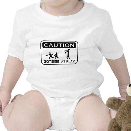 Zombis en el diseño del NEGRO de la muestra de la Trajes De Bebé