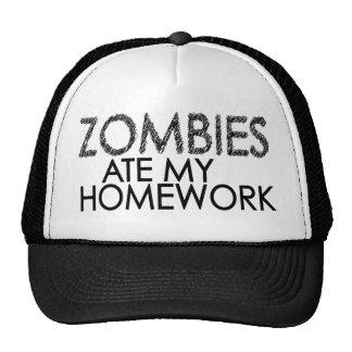 Zombis en mi preparación gorra