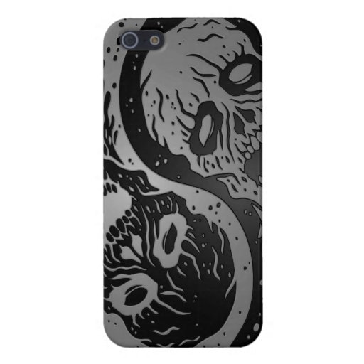 Zombis grises y negros de Yin Yang iPhone 5 Protector