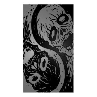 Zombis grises y negros de Yin Yang Tarjetas De Visita