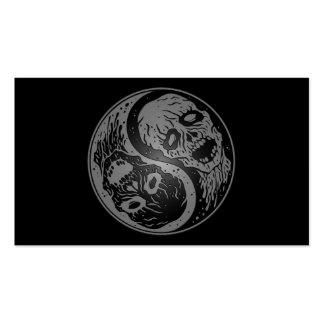 Zombis grises y negros de Yin Yang Tarjeta De Negocio