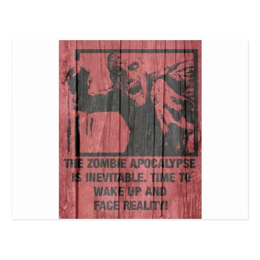 zombis - la apocalipsis está viniendo tarjeta postal