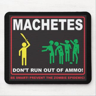 Zombis: Los machetes no corren del cojín de ratón  Alfombrilla De Ratones