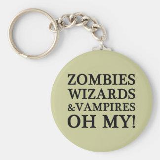Zombis, magos, y vampiros--¡Oh mi! Llavero