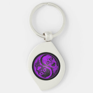 Zombis púrpuras y negros de Yin Yang Llaveros