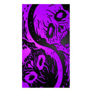 Zombis púrpuras y negros de Yin Yang Tarjetas De Negocios