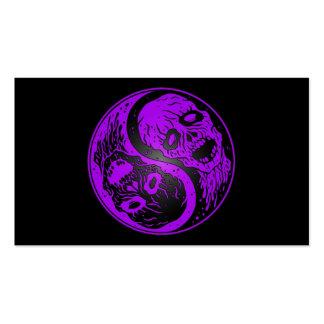 Zombis púrpuras y negros de Yin Yang Plantilla De Tarjeta De Visita
