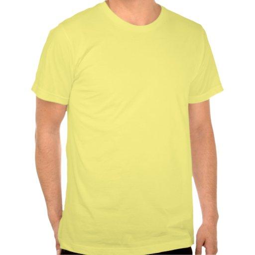 Zombis que vienen en camiseta divertida de la paz