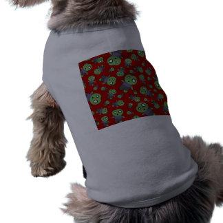Zombis rojos camisas de mascota