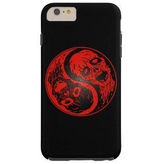 Zombis rojos y negros de Yin Yang Funda De iPhone 6 Plus Tough