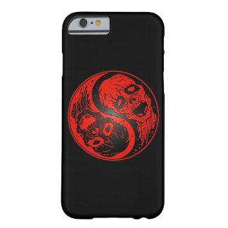 Zombis rojos y negros de Yin Yang Funda De iPhone 6 Barely There